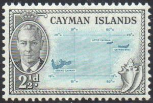 Cayman Islands 19502½d Map MH