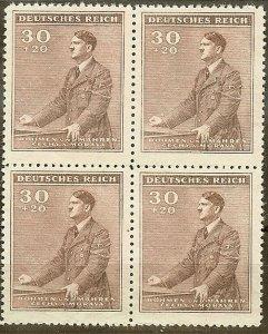Stamp Germany Bohemia B&M Mi 085 Sc B9 Block 1942 WWII Fascism Hitler Hitler MH