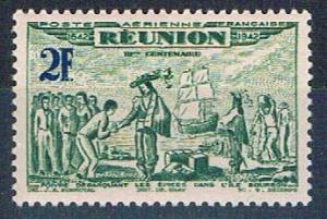 Reunion C13B MNH De Poivre 1943 (R0461)+