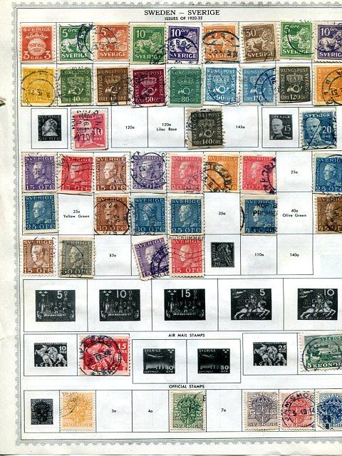 Sweden Classic Collection on 2 pages   -  Lakeshore Philatelics