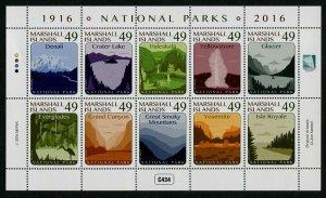 HERRICKSTAMP NEW ISSUES MARSHALL ISLANDS Sc.# 1148 Nat'l Parks 2016