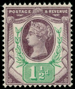 SG198, 1½d dull purple & green, NH MINT. Cat £25.