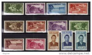 South Vietnam 1951 Scott 1-13 Emperor Bao Dai & scenes MNH