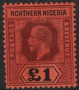 NORTHERN NIGERIA 1912 KGV 1 POUND