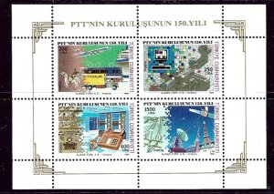 Turkey 2494a MNH 1990 Communications S/S    (ap5415)