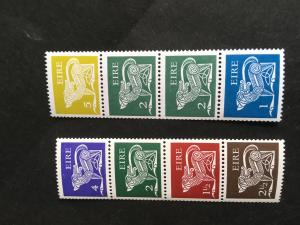 Ireland Scott #297b&348c Mint F+-VF NH Two Diff.DOG Se-Tenant Coil Str of 4 Each