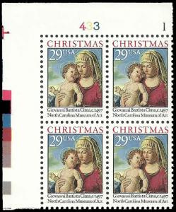 PCBstamps    US #2789 PB $1.16(4x29c)Christmas, Madonna, MNH, (1a)