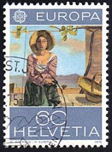 Switzerland # 605 used ~ 60¢ Vineyard Worker