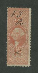 1863 US Manifest Revenue Stamp #R90 Used Pen Cancel