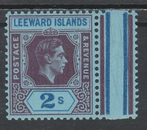 LEEWARD ISLANDS 1938 KGVI 2/- CHALKY PAPER MNH **