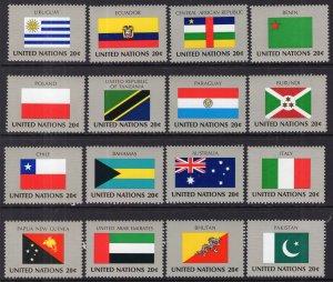 UN New York 425-440 Flags MNH VF