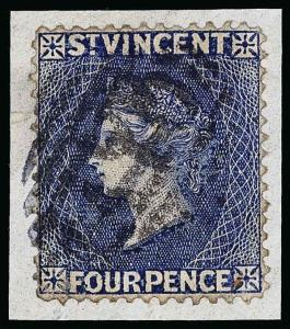 St. Vincent Scott 46a Gibbons 41a Used Stamp
