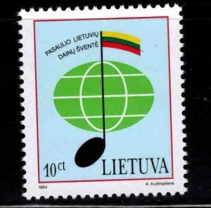 LITHUANIA Scott 496 MNH** Music stamp