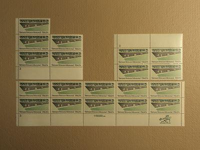 USPS Scott 2109 20c 1984 Vietnam Veterans Memorial Lot Of...