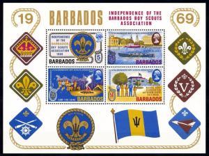 [66783] Barbados 1969 Scouting Jamboree Pfadfinder Souvenir Sheet MNH