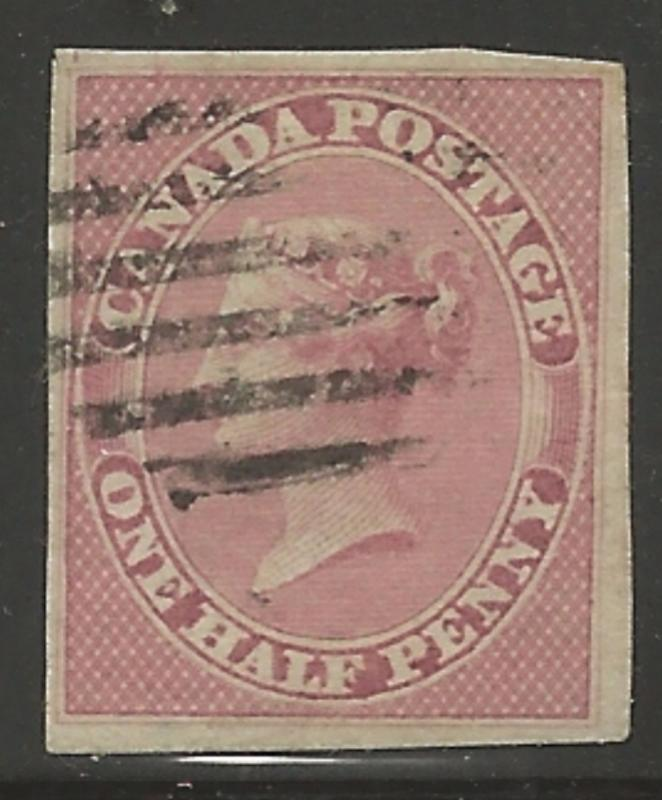 Canada Used #8 XF - Imperf - CHOICE - High Quality