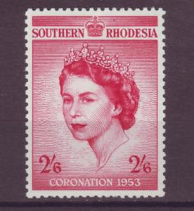 J20945 Jlstamps 1953 south rhodesia set of 1 mlh #80 royality
