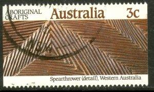 AUSTRALIA 1987 3c SPEARTHROWER Aboriginal Crafts Issue Sc 1047 VFU
