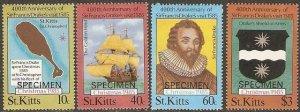 St. Kitts MNH 173-6 Sir Francis Drakes Visit Ships SCV 2.50