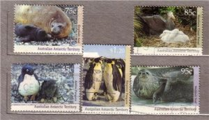 ANIMALS PINGUIN AAT 1992 Used Stamps Set Michel 90-94#1170