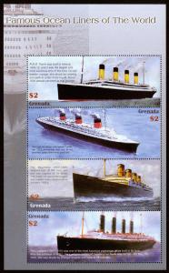 Grenada - Famous Ocean Liners of the World (2004) Mint NH VF C