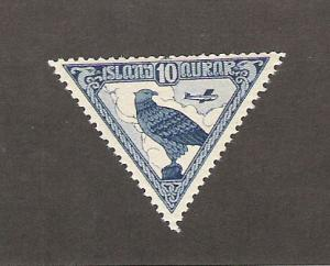 ICELAND Scott C3 F Mint 10 Aur Gyrfalcon 2013 CV $25.00