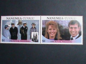 TUVALU -NANUMEA STAMP-1986- ROYAL WEDDING MIN NOT HING- SET VERY FINE