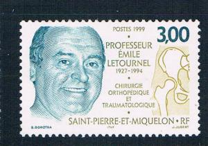 St Pierre and Miquelon 676 MNH Emile Letournel 1999 (S0956)+
