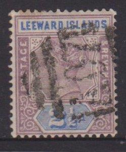 Leeward Islands Sc#3 Used - Postmark Cancel Dominica A07
