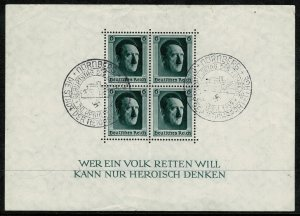 GERMANY 1937 CULTURE FUND & 48th BIRTHDAY USED (VFU) SEE SCANS SGMS635 P.14 VF