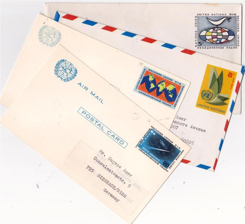 New York, UN. 1963, letters & cards