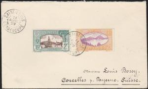 GUADELOUPE 1929 cover Saint Louis to Switzerland...........................46744