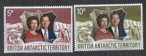 BRITISH ANTARCTIC TERRITORY SC# 43-4 VF/MLH 1972