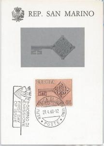 57342 - SAN MARINO - POSTAL HISTORY: MAXIMUM CARD 1968 -  EUROPA