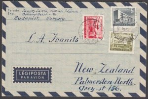 HUNGARY 1959 formular aerogramme commercially used to New Zealand...........J794