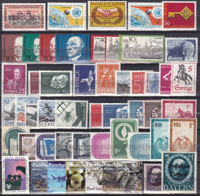 Worldwide  Lot-  Mint Never Hinged  (Z6015)