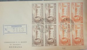 O) 1946 BARBADOS, KING GEORGE VI - END OF THE WORLD WAR - VICTORY, REGISTERED