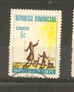 DOMINICAN REPUBLIC STAMP USED NAVIDAD 1971 # WA12