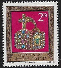 Liechtenstein #571MNH single, Imperial Crown, Holy Roman empire, issued 1975
