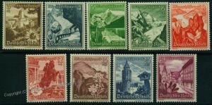 Germany 1938  Mi  675-683 MNH Winterhilfswerk WHW Winter Charities Stamp S 50604