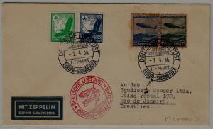 Germany/Brazil Zeppelin cover 1.SAF 1.4.36