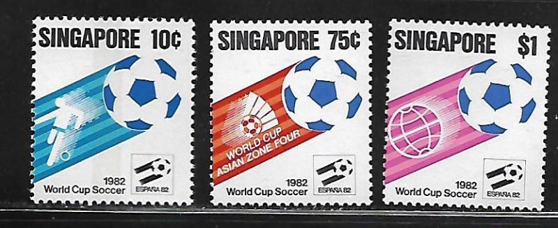 SINGAPORE, 394-396, MNH, WORLD CUP SOCCER