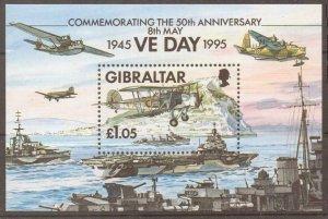 GIBRALTAR SGMS744 1995 END OF SECOND WORLD WAR MNH
