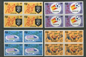 Fiji - Scott 466-469 - General Issue - 1982 - MNH -Set of 4 X Blocks of 4 Stamps