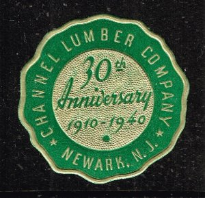 US STAMP EMBOSSED POSTER LABEL STAMP COLLECTION LOT #6 CHANNEL LUMBER CO. MNH