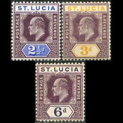 ST.LUCIA 1904 - Scott# 52-4 King 2-6p LH