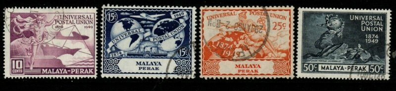 MALAYA PERAK SG124/7 1949 UPU SET FINE USED