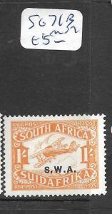 SOUTH  WEST AFRICA (P1801B) AIRPLANE SG 61B  MOG