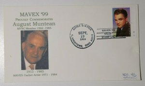 MAVEX Sta Youngstown OH 1999 Commenorates August Muntean Philatelic Expo Cover