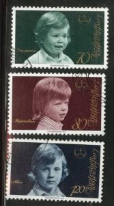 LIECHTENSTEIN Scott 553-555 Used CTO 1975 short stamp set